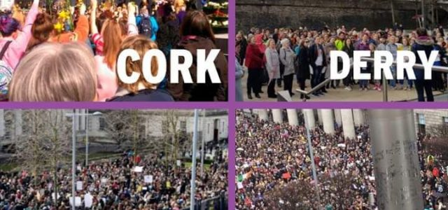 La clase trabajadora y la juventud se echan a la calle en Irlanda contra la justicia machista