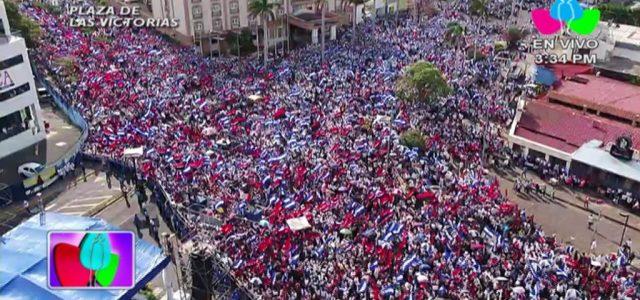 Nicaragua: Cientos de miles de Nicaragüenses se movilizan por la Paz y el Diálogo nacional.