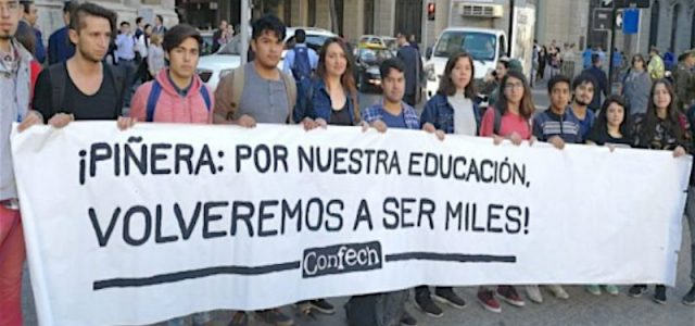 Chile – JUEVES 19 DE ABRIL PRIMERA MARCHA NACIONAL POR LA EDUCACIÓN 2018 –