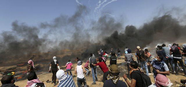 Brutal Matanza de Palestinos perpetrada por soldados israelíes en la fontera de Gaza con Israel