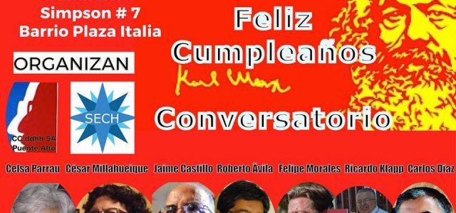 Conversatorio en Homenaje a los 200 años del nacimiento de Carlos Marx en la Sociedad de Escritores de Chile