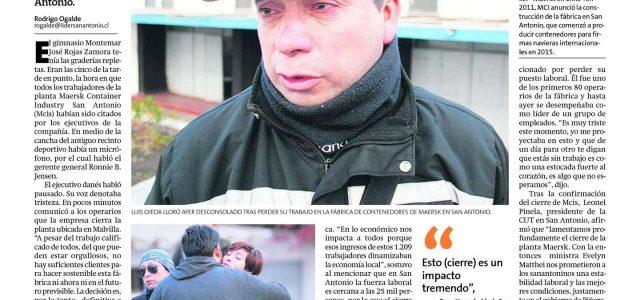 Chile – Cierra fábrica Mersk en San Antonio, 1.209 trabajadores despedidos