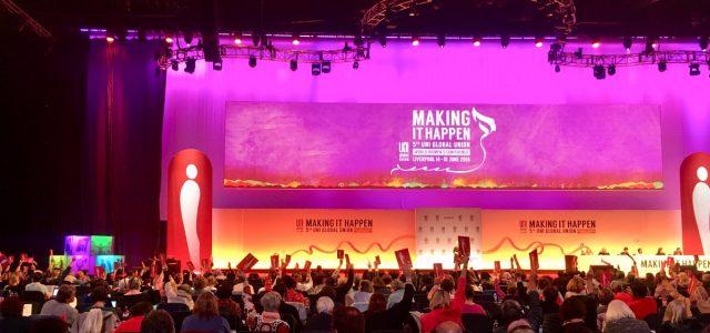 Vicepresidenta de Confederación de Sindicatos Bancarios y Afines de Chile se dirige a congreso mundial de mujeres sindicalistas