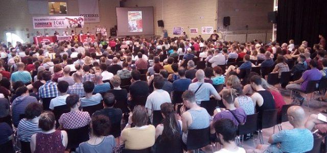 500 personas participan en el mitin internacionalista de solidaridad con el pueblo de Catalunya