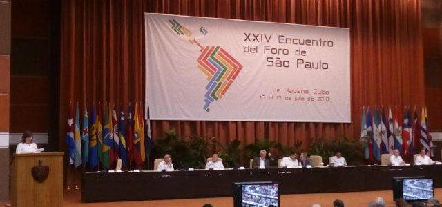 Foro Sao Paulo en la Habana fijó posición y resolución sobre Nicaragua