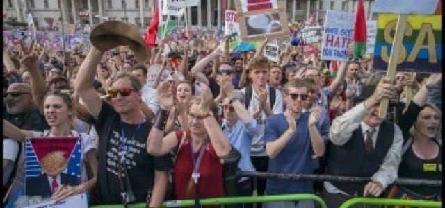 Una marea humana de 250,000 personas arrasa Londres contra la visita de Trump