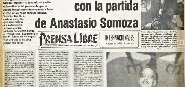 """Aniversario – """"Tachito"""" Somoza es derrocado en Nicaragua"""