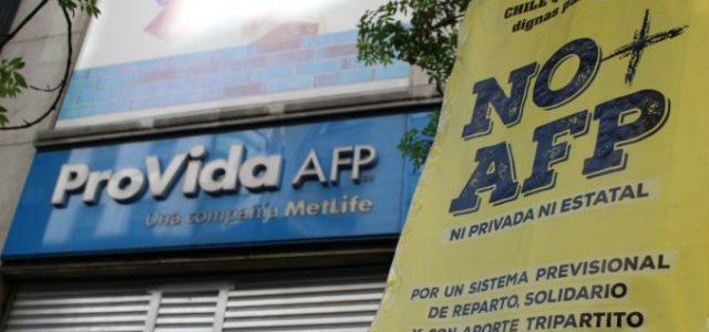 Chile – Movilización contra Provida por negar derecho a pensión de invalidez a trabajadores/as enfermos NO+LUCRO