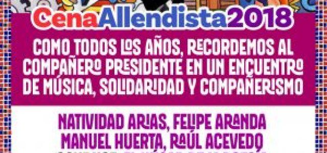 MDP comienza el mes de septiembre organizando una cena Allendista en homenaje a Salvador Allende y la Unidad Popular.