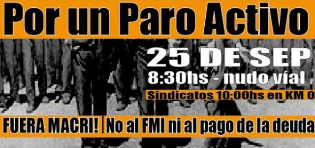 Argentina: este 25 de septiembre Paro Activo contra Macri y el FMI