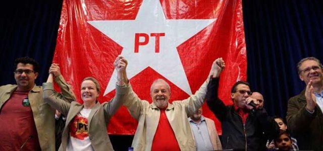 PT de Brasil: Contra la suspensión política, con Lula hasta el final.