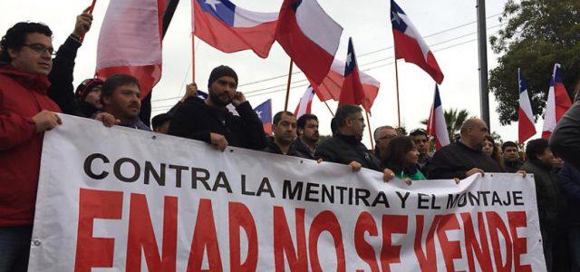 Chile: Trabajadores de ENAP en paro