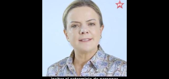 Brasil: Gleisi Hoffman Presidenta del PT denuncia grave peligro que representa el ultraderechista Bolsonaro contra la democracia