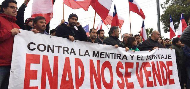 Chile – Trabajadores ENAP se toman plantas de Quintero y Concón y marchan con comunidad de vecinos de la zona