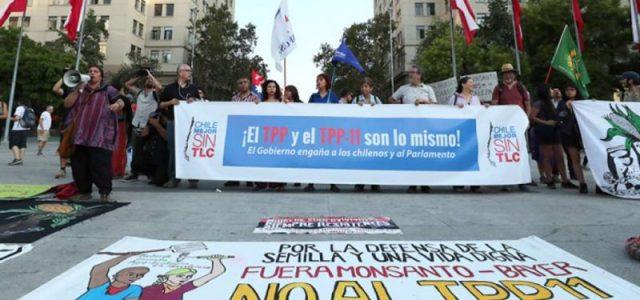 """Gobierno ingresa al Congreso el TPP11 intentando forzar su aprobación entre """"Gallos y medianoche"""" sostienen dirigentes de Chile Mejor sin TLC"""