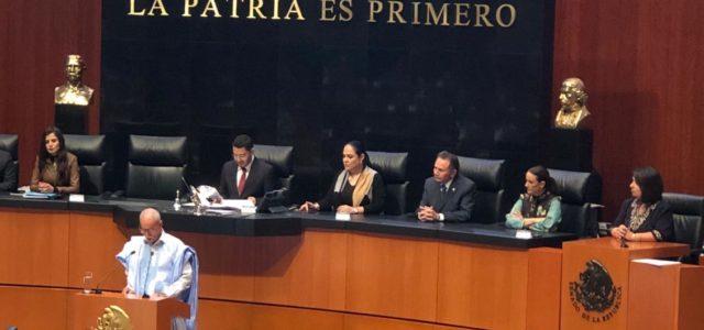 Presidente saharaui Ghali en sesión solemne del Senado de México: Nos consideramos una extensión de América Latina en el continente africano