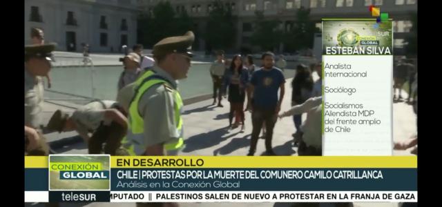 Asesinato de Catrillanca fue perpetrado con alevosía. El Ministro del Interior debe renunciar. Esteban Silva en Telesur