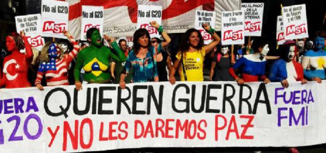 Miles de personas le dicen No al G20 en Argentina