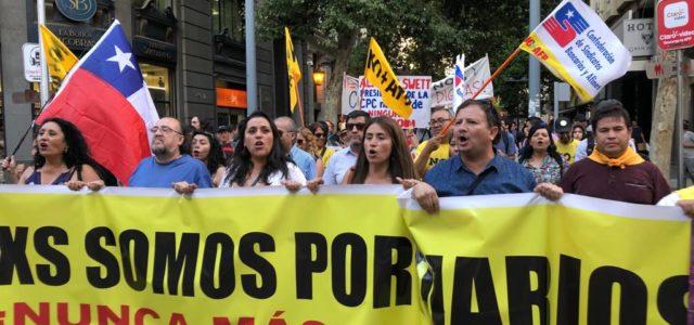 Crece la solidaridad con los Trabajadores Portuarios. Convocados por NO más AFP en Santiago cientos de trabajadores solidarizan con la huelga portuaria.