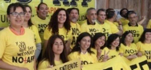 Coordinadora No + AFP de Tarapacá, en acto central de entrega de resultados de los cabildos realizado en Santiago