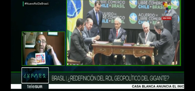Análisis del TLC Chile -Brasil y la estrategia neoliberal de desregulación neoliberal de Bolsonaro en Brasil. AL Mejor sin TLC. Telesur