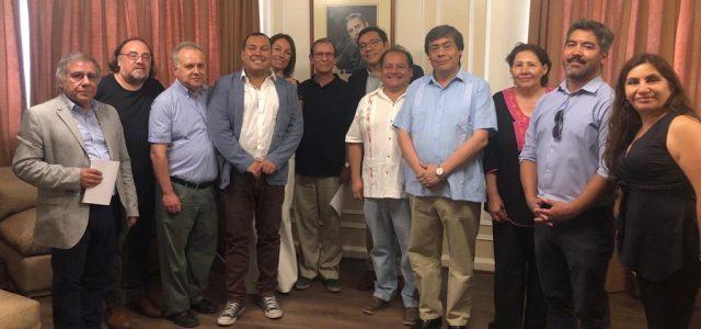 Dirigentes de Izquierda Chilena saludan el 60 Aniversario de la Revolución Cubana.