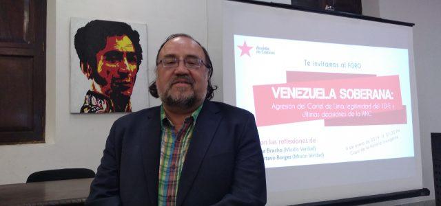 """Esteban Silva desde Caracas: """"Es inaceptable que Piñera pretenda desconocer el nuevo período Presidencial de Maduro. Con esa postura le impone a Chile relaciones internacionales basadas en fronteras ideológicas ajenas al interés del país"""""""