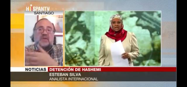 """Esteban Silva en Hispan TV: """"EEUU presiona a Irán tomando a periodista de Press TV como rehén."""""""