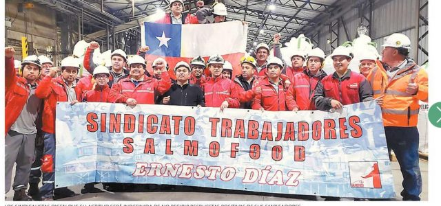 Chiloé comenzó el año con huelga en factoría de alimento para salmones