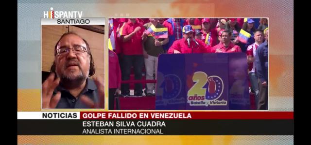 """""""Golpista Guaidó no representa a la oposición  venezolana"""" análisis de Esteban Silva en HispanTV de las masivas movilizaciones del chavismo en apoyo a Maduro."""