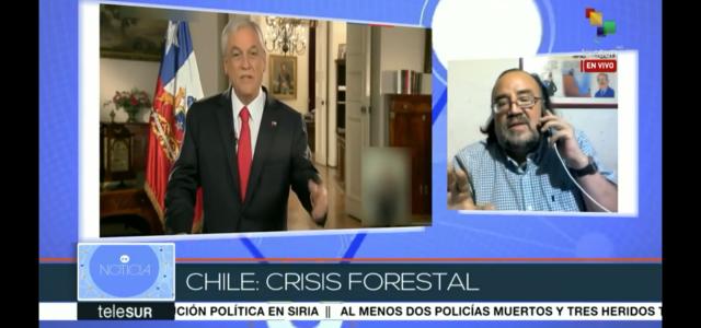 Análisis en teleSUR: Incendios forestales, ineficiencia del gobierno de Piñera y su vinculación con la agresión de Trump contra el gobierno de Maduro.