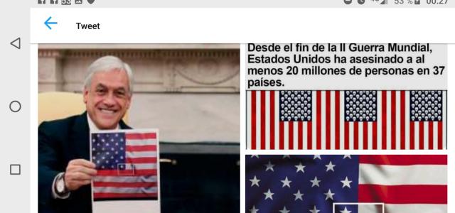 """Crece el rechazo en Chile contra la amenaza de agresión militar a Venezuela: """"Piñera ofende al pueblo chileno al sumarse a la agresión de Trump en contra del pueblo y el gobierno venezolano"""""""