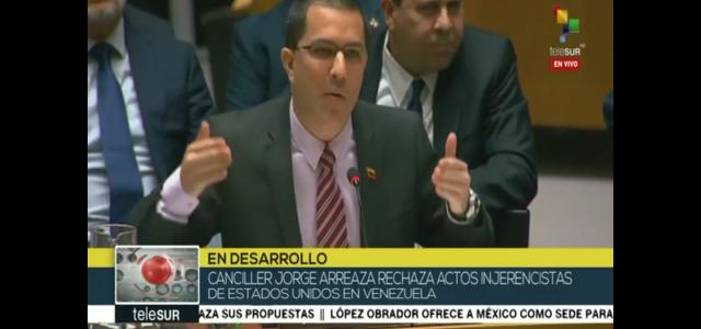 Contundente intervención de dignidad en nombre de los pueblos  Latinoamericanos del canciller venezolano Jorge Arreaza ante el Consejo de Seguridad de la ONU