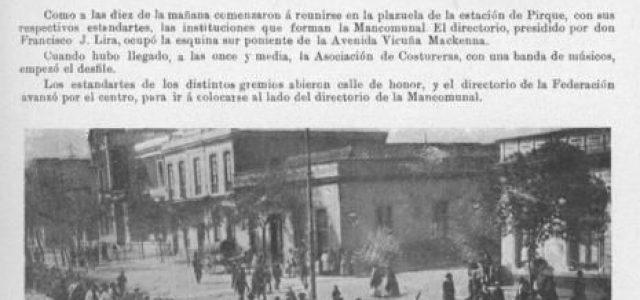 El primero de mayo en Santiago, 1907