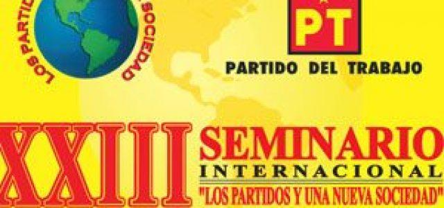 Seminario del PT de México: Para la izquierda no hay ni rendición ni derrota