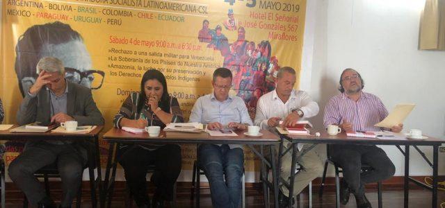 En Lima, Perú dirigentes de partidos Socialistas de Latinoamérica rechazan reunión del Grupo de Lima  y lo califican de operador de Trump en la agresión contra el gobierno venezolano.