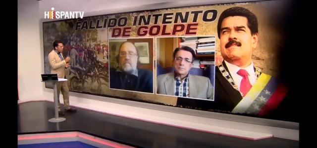 Análisis en Hispan TV del Fallido intento golpista en Venezuela. E Silva : «Hoy vimos manotazos de un ahogado del títere de EEUU, Juan Guaidó.»