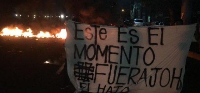 HONDURAS. Insurrección popular en todo el país para derrocar al dictador Hernández