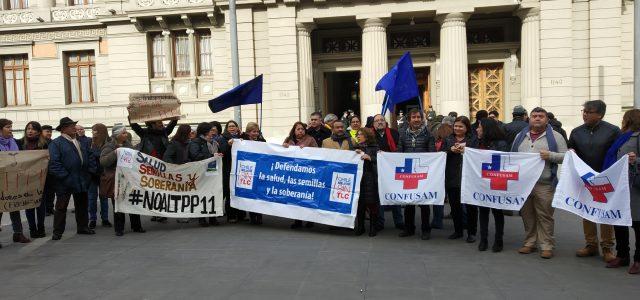 Trabajadores y Chile Mejor Sin TLC llamaron al Senado a escuchar el rechazo social al TPP-11