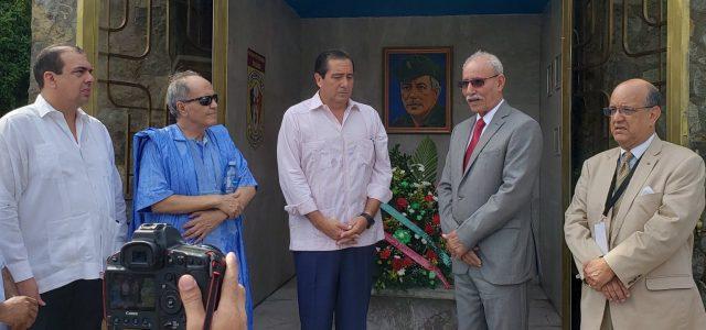 Presidente saharaui Braim Ghali rindió homenaje en Panamá al General Omar Torrijos