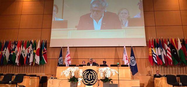 """Julio Fuentes en la OIT: """"El trabajo no es una mercancía"""""""