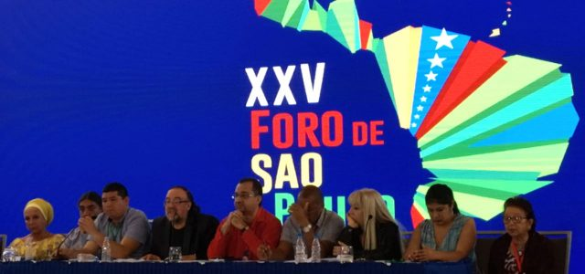 Foro de Sao Paulo rechaza el nuevo intento de intervención contra Venezuela utilizando el TIAR que incorpora una amenaza militar.
