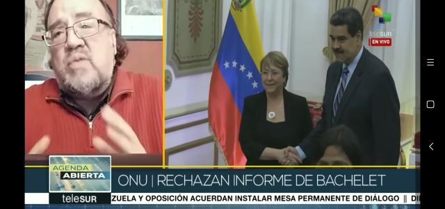 Esteban Silva analiza Informe Bachelet sobre Venezuela y sus repercusiones políticas internacionales en Telesur