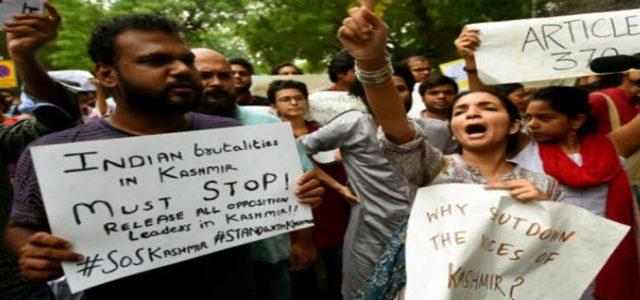 Crisis de Cachemira: Hay que oponerse al ataque a los derechos democráticos
