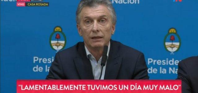 Macri alentó el chantaje de los mercados y no anunció ninguna medida ante la crisis