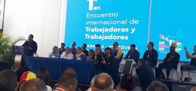 Declaración del Primer Encuentro Internacional de Trabajadores y trabajadoras en solidaridad con el gobierno y el pueblo Venezolano.