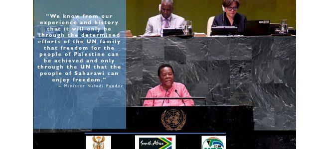 Respaldan la Descolonización del Sáhara Occidental y la  Autodeterminación e independencia saharaui en la 74 Asamblea General de la ONU.