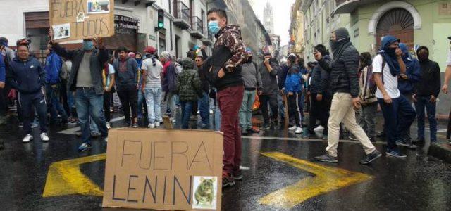 El pueblo unido sublevación en Ecuador