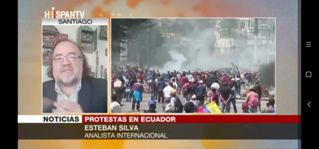 Lenin Moreno dió un paso en falso definitivo y ya no podrá darle gobernailidad al Ecuador. Análisis de Esteban Silva en Hispantv
