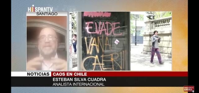Esteban Silva: Chilenos están hartos del modelo neoliberal de Piñera. Análisis de la crisis actual chilena en HispanTV.